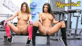ChicasLoca - Susy Gala And Penelope Cum Big Ass Spanish Lesbians Pussy Licking At The Gym