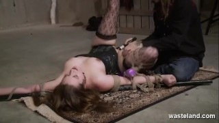 Bound Submissive Slut Dominated By Maledom With Dildos And Bindings