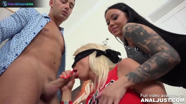 Only3x presents - Just Anal presents - Blanche Summer, Nilla and Tiffany Rousso group sex madness 16