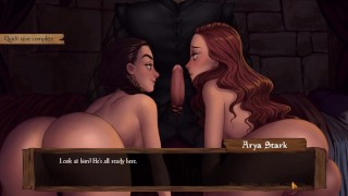 Game of Moans Whispers From The Wall - Part 26 Two Girls 1 Dick By LoveSkySan69