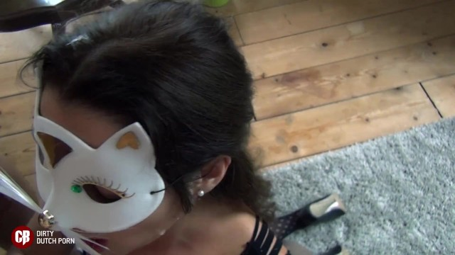 Dutch give blowjob to her 2 bosses BBC BWC 13