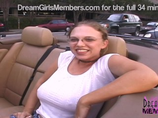 Big Tit Nerdy Girl Flashes People From My Back Seat