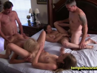 Swingers orgies from the horny tampa housewives...