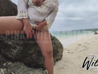 Horny pinay outdoor and played dildo on boracay...
