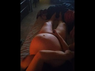 Play time with mistress she's too pregnant to have sex