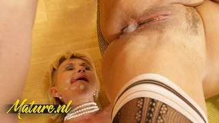 Lucky Guy Gets Shared By Two Horny Girlfriends & Creampies Them