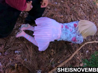 4k Quality Family Time With StepDaughter Msnovember Innocent Pussy, Lured Into Forest For Sex, I Cum