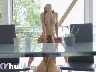 Lesbea Lesbian compilation of mega babe Aislin pussy eating orgasms
