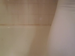Peeing in White Leggings