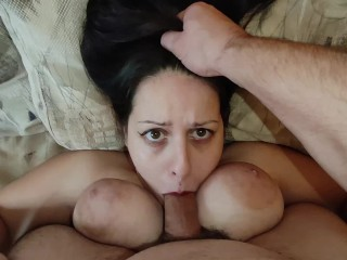 Stepson Records how he Fuck his Big Tits Step Mother Mouth and Cum on Her Face