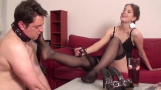 Nylon Feet Slave