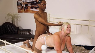 GRANNYLOVESBLACK - Interracial Assfucking With Lacey Starr