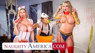 Naughty America - MILFs in costume, Casca Akashova & Rachael Cavalli, need some dick after a big sca