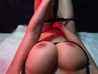 Cum and join me while I finger my pussy - Female POV - A Very Milky Way