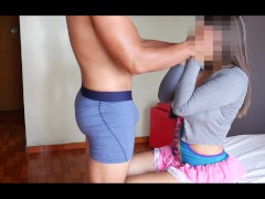 latin wife gets a BIG surprise for her birthday and husband records it as a souvenir (real cuckold)