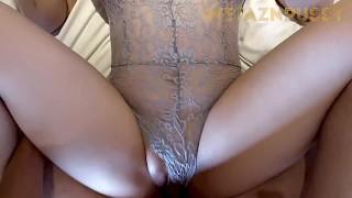 Fuck curvy girlfriend in sexy lingerie