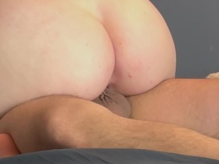 4K He Makes me Orgasm from Riding his Cock so I Let him Cum Deep in my Pussy (Mating Press Creampie)