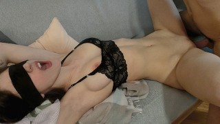 Cute Babysitter loses bet, gets tied up and fucked hard - HOT Amateur