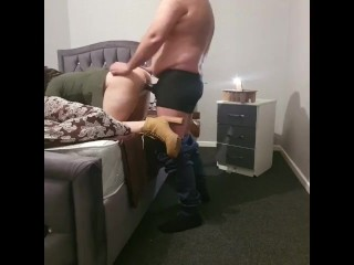 Step mom Can't Handle 11 inch Cock in Doggy with step son
