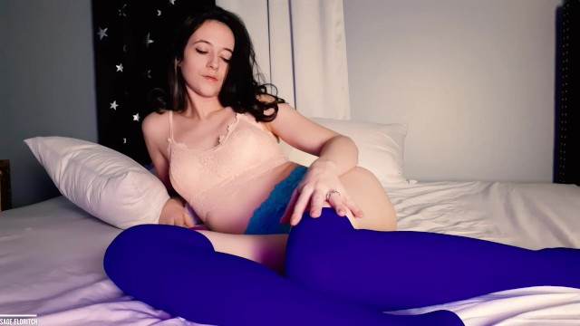 Babe;Brunette;Exclusive;Verified Amateurs;Solo Female;Female Orgasm vibrator-clit-orgasm, vibrator-orgasm, stockings, blue-stockings, bed, solo-female-orgasm, solo-female, curly-hair-brunette, pussy, makes-herself-cum, girl-playing-herself, pretty-girl, solo-pussy, solo-pussy-play, vibrator, hot