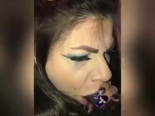 Sexy Bella smoking leashed up and gagged slapped and pounded to the extreme by huge bbc