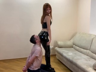 Oral Servant For Petite Kira In Latex Pants - Ass Worship and Pussy Worship Service [PREVIEW]