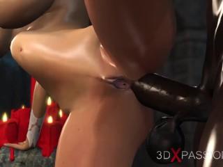 Plays sexy bride dungeon...
