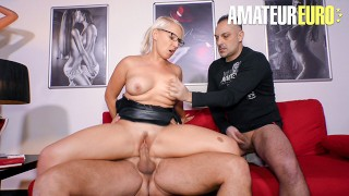 ReifeSwinger - Gina Blonde Voluptuous German Slut Kinky FMM Threesome Fuck