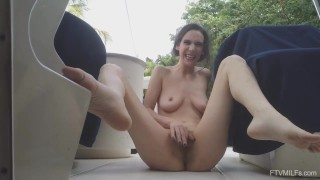 Alora Jaymes Horny Skinny MILF with a Hairy Pussy