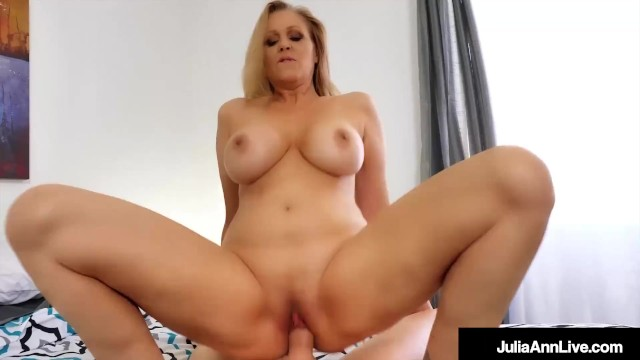Busty Hot Step Mom Julia Ann Rides Her Step Sons Hard Dick!