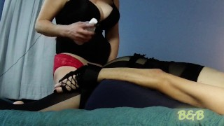 Crossdressing Husband getting Pegged by Hot Wife