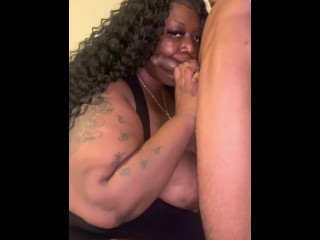 SEXY BBW SWALLOWS AND GAGS ON BIG DICK (BBC Gets Dick Swallowed) @1macmillion