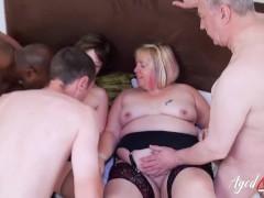 AgedLovE Busty Matures Enjoying Hard Group Sex