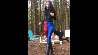 Submissive training outside