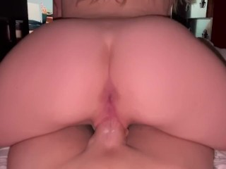 Blonde shakes ass all over dick...
