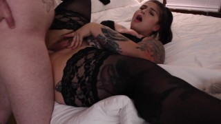 BBW Gets HAIRY Pussy Fucked with FACIAL ending