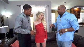 Rough Interracial Threesome