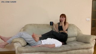 Dominant Girlfriend In Black Jeans - Ignoring FullWeight Facesitting During Drinks Tea [PREVIEW]