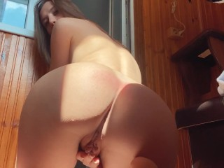 Morning loud orgasm control my dripping wet pink pussy before college