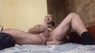 Jerking off and playing with my ass