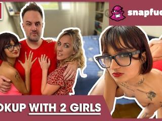 Mya Lorenn & Candy Scott: two cock-loving girls enjoy one boner! SNAP-FUCK