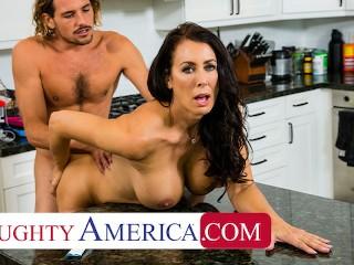 Naughty America - Hot Mom Reagan Foxx fucks and sucks on young cock
