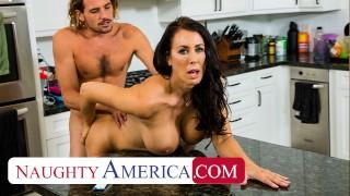 Naughty America - Hot stepMom Reagan Foxx fucks and sucks on cock