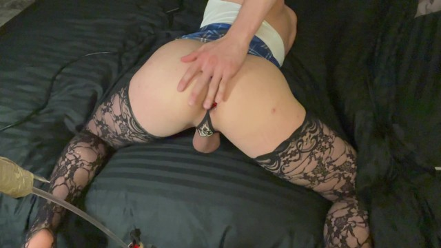 Sissy Gets Flogged By Machine 1