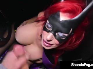 Costumed Cougar Shanda Fay Fucks A Random Stranger