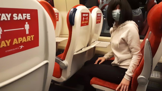 Public Dick Flash in the Train. Stranger Girl Jerk me off and Suck me till I Cum. Risky Real Outdoor