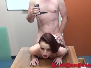 Layla Locks , Pornstar debut , dripping fill of cum , redhead