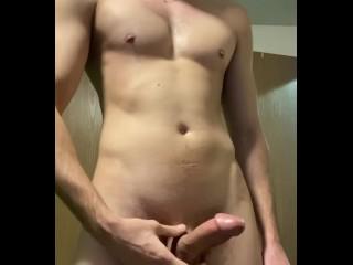 Slim Stud Rubs One Out - Powerful Orgasm