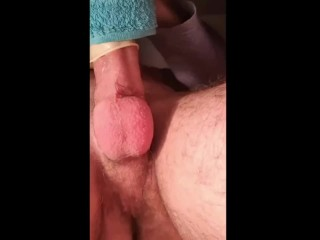 Amateur huge white dick fucks homemade fleshlight during lockdown