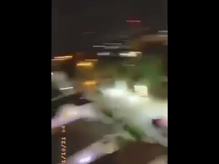 Balcony Sex With Big Ass Black Girl